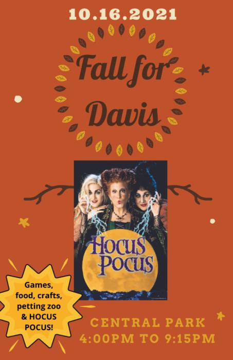 poster for Fall for Davis October festival.