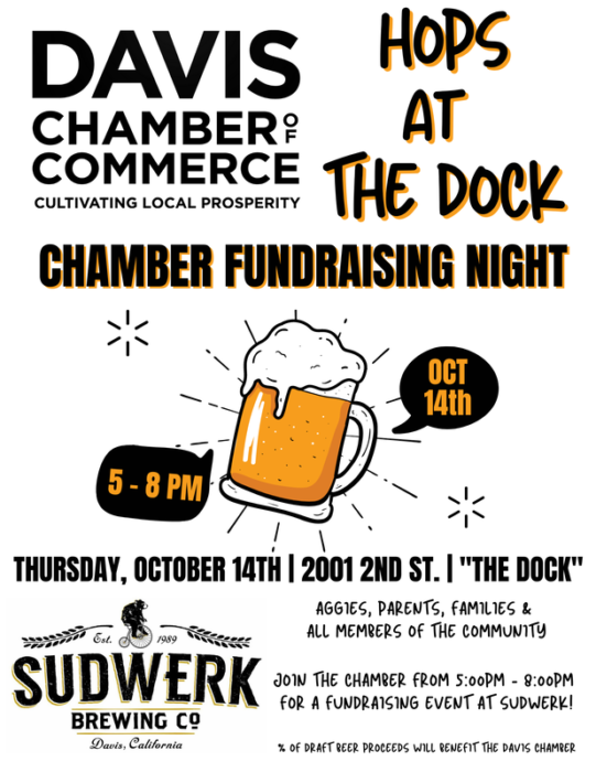 poster for Hops at the Dock fundraiser event