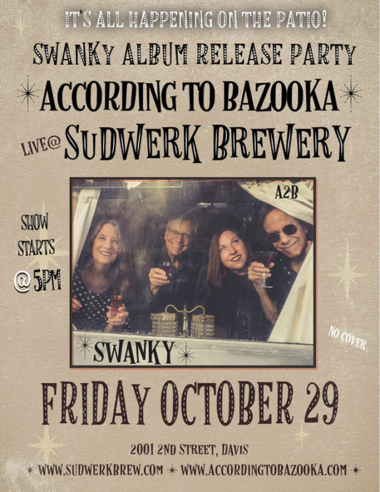 poster for According to Bazooka album release show at Sudwerk Brewing
